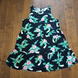 Old Navy size large dress tropical parrots Hawaii